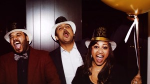 Kavita, Hemal, and brother on New Years